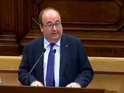 El secretario del Partido Socialista de Cataluña (PSC), Miquel Iceta.