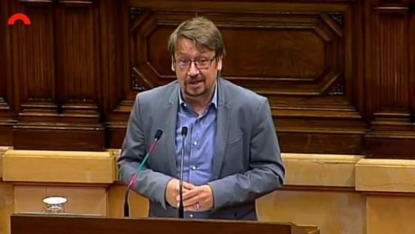 El líder de Catalunya En Comú Podem en el Parlament, Xavier Domènech.