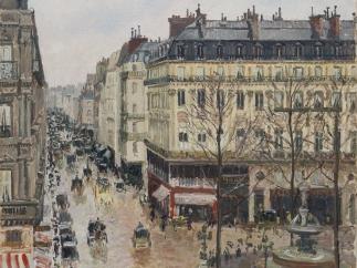'Rue Saint-Honoré por la tarde. Efecto de lluvia', de Camille Pissarro.