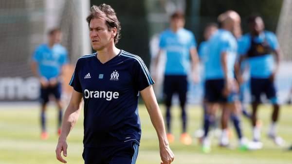 Rudi García, técnico del Olympique de Marsella.