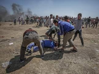 Protestas en la frontera de Gaza e Israel