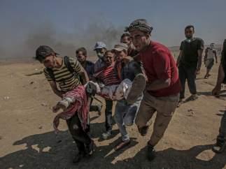 Un herido en la frontera de Israel