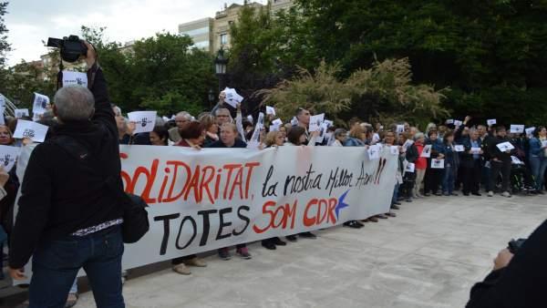 Concentración, este lunes, en protesta por las detenciones de miembros de CDR