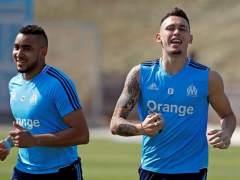 Payet y Ocampos, en un entrenamiento con el Olympique de Marsella.