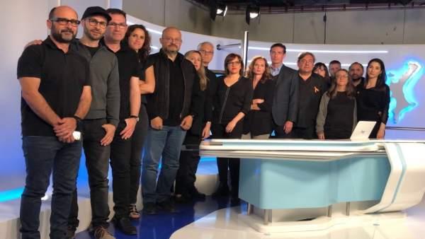 Miembros de la plantilla de RTVE en Valencia