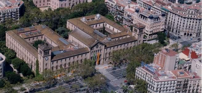 El edificio histórico de la Universidad de Barcelona.