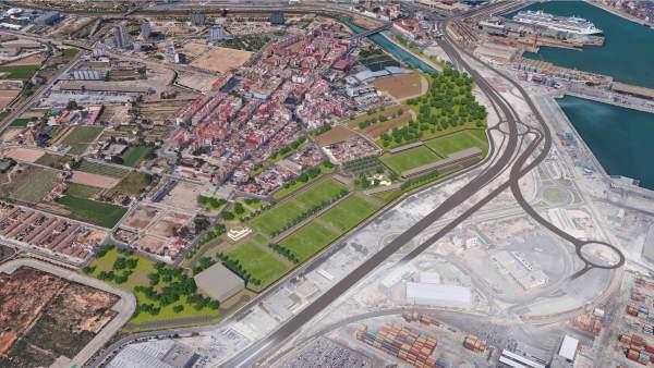 Les entitats veïnals de Natzaret recolzen la Ciutat Esportiva del Llevant