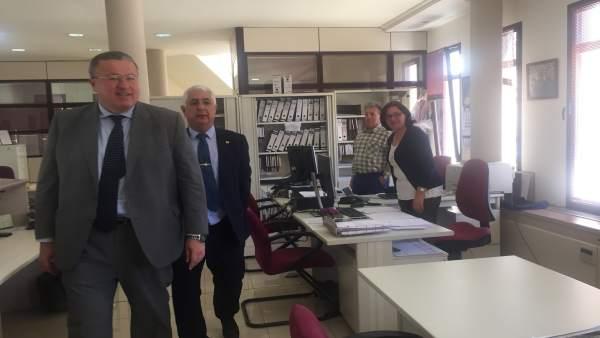 Bernabé visita las instalaciones de Cartagena de la sede de Capitanía Marítima