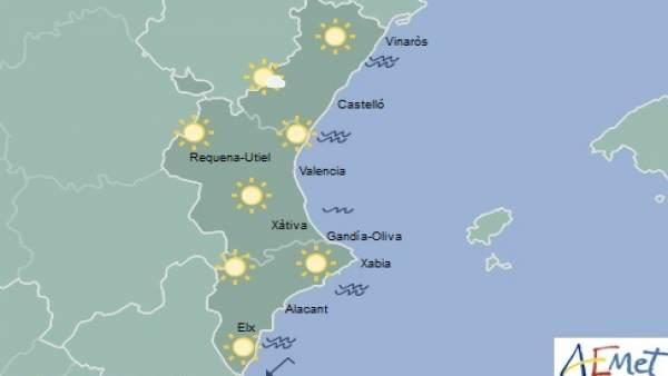 Cels clars i màximes de 25 graus aquest dimecres a la Comunitat Valenciana