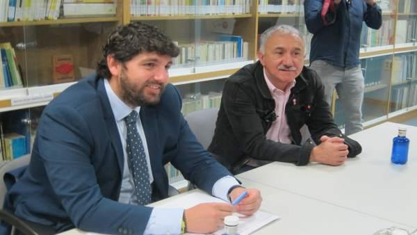 López Miras y Álvarez, durante su reunión en Murcia