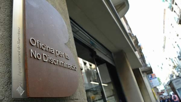 Exterior de la Oficina para la No Disciriminación de Barcelona.