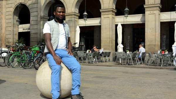 Clement Johnson, víctima de racismo en Barcelona