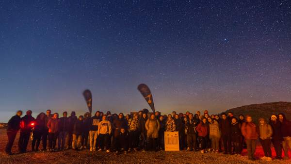 Participantes en el I Ciclo de Observación Astronómica Nocturna.