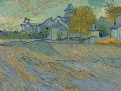 'Vue de l'asile et de la Chapelle de Saint-Rémy', de Vincent van Gogh.