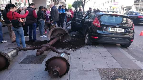 Escenario del accidente en Burgos capital.