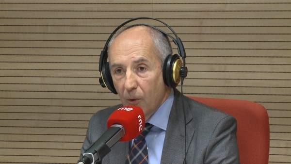 Josu Erkoreka en una entrevista para RNE