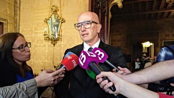 El portavoz de El PI en el Consell de Mallorca, Antoni Pastor