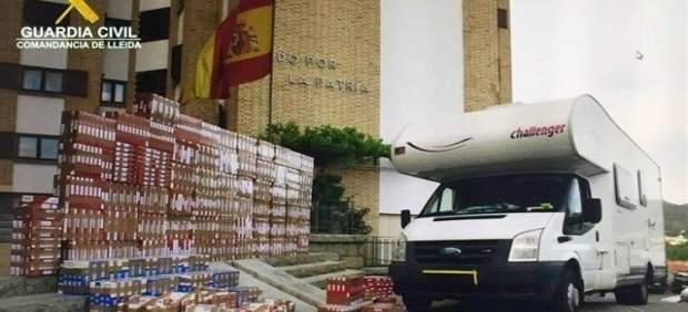 Caravana con tabaco de contrabando inspeccionada en junio de 2016
