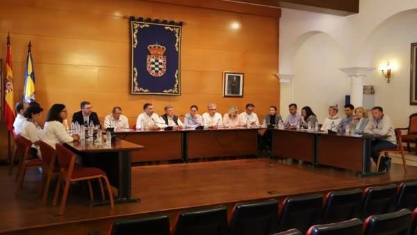 Pleno del Ayuntamiento de Moguer (Huelva).