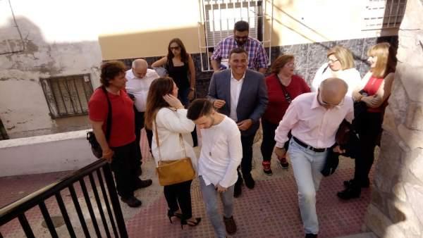 Visita de Carlos Hernández al casco antiguo de Jaén