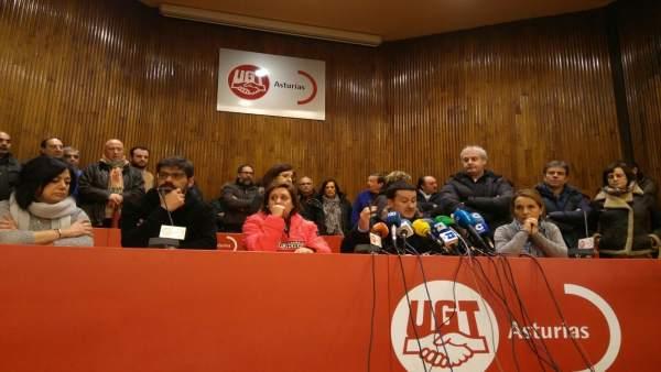 Javier Fernández Lanero, en rueda de prensa