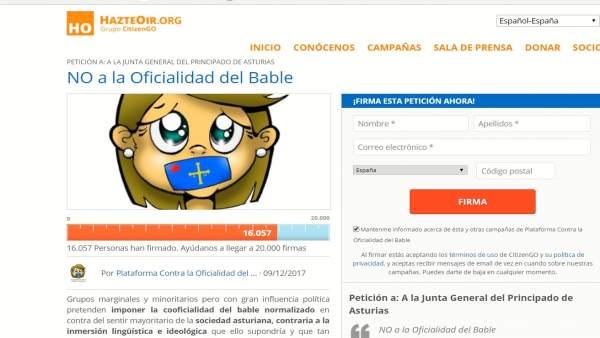 Firmar contra la coofiacialidad del asturiano