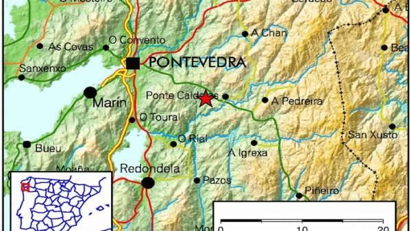 Terremotos en Ponte Caldelas (Pontevedra)