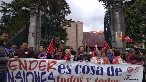 Movilización de pensionistas.