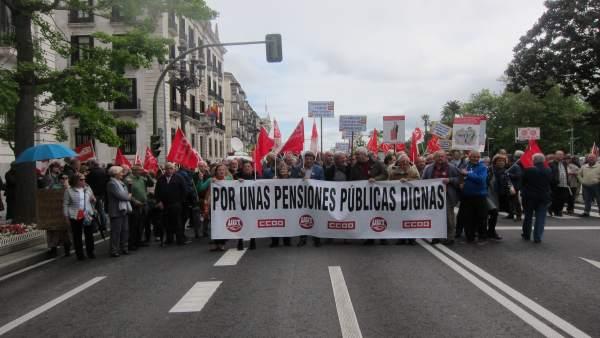 Manifestación por las pensiones