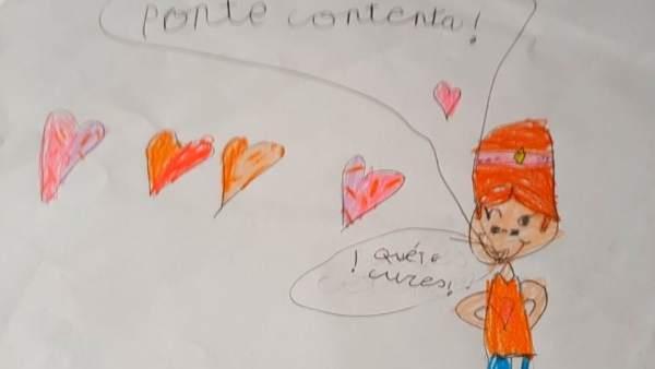 Dibujo ganador del I Concurso de Dibujo Infantil 'Galbán'