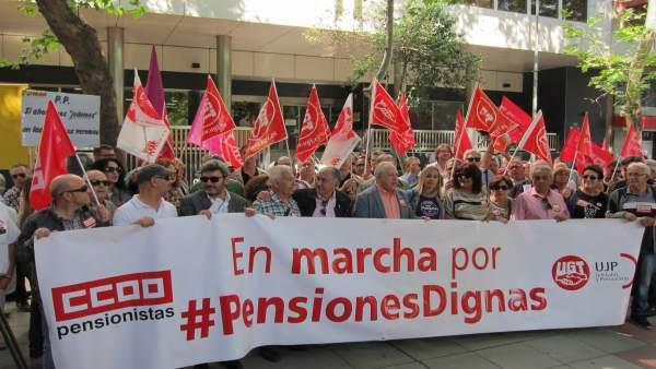 Concentración por las '#PensionesDignas'