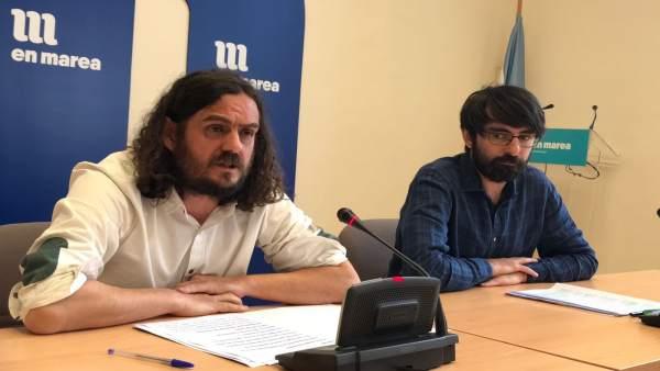 Antón Sánchez y Marcos Cal, En Marea, en el Parlamento