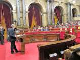 Segundo pleno de investidura de Quim Torra en el pleno del Parlament.