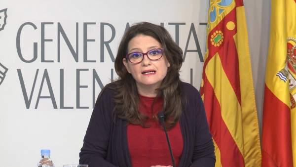 """Oltra espera que Rajoy i Torra posen """"el diàleg en el centre de l'acció política"""""""