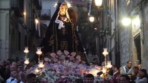 Procesión de la Soledad en Laredo