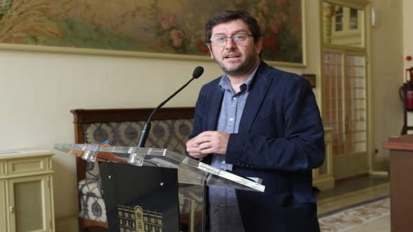 Alberto Jarabo tras la Junta de Portavoces