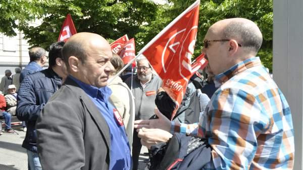 Secretarios generales en Aragón de UGT y CCOO, Daniel Alastuey y Manuel Pina