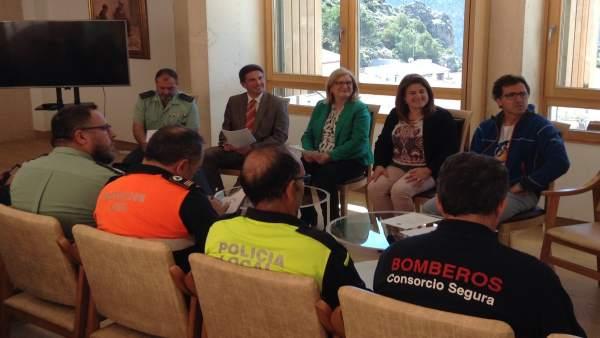 Junta local de seguridad en Segura de la Sierra