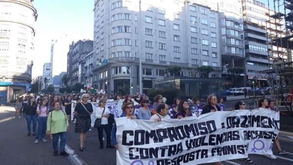 Foto Manifestación Feminista Vigo