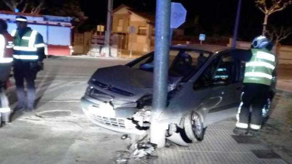 Accidente en Cintruénigo.