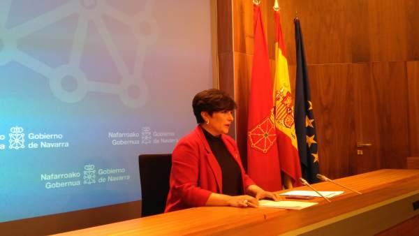 La portavoz del Gobierno de Navarra, María Solana