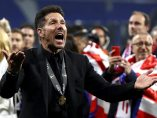 Simeone celebra la Europa League