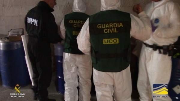 Desmantellen a Alacant el major laboratori de droga sintètica d'Espanya amb substàncies valorades en 100 milions