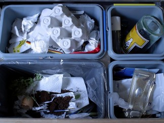 Cubo reciclaje