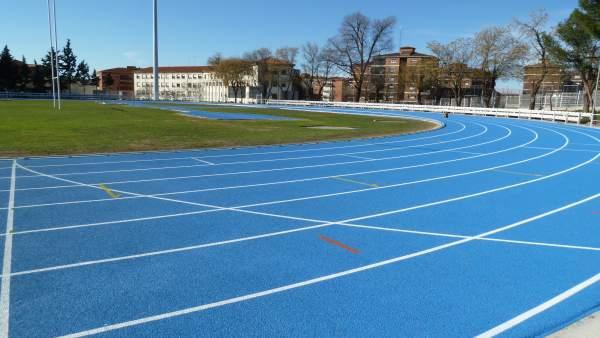 Una pista de atletismo