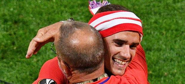 Antoine Griezmann celebra la Europa League