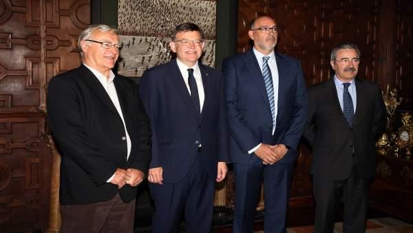 Puig y Ribó en la reunión con representantes de Telefónica