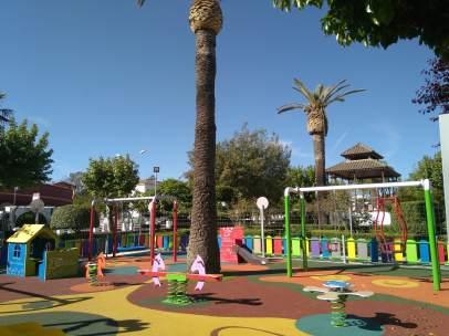 Un parque en el centro de la ciudad.