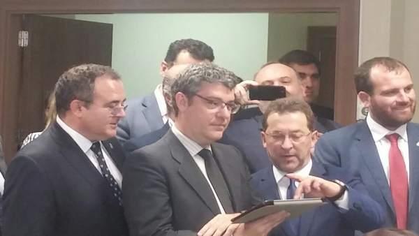 Isaac Pola, Álvaro Nadal y Genaro Alonso