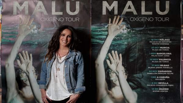 La cantante Malú presenta su nuevo disco Oxígeno